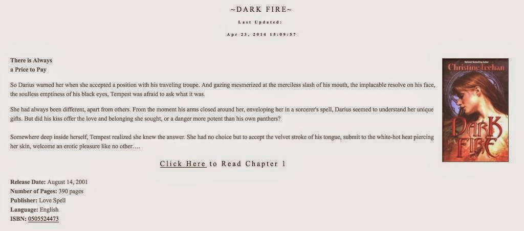http://www.christinefeehan.com/dark_series/index.php