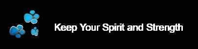 keep ur spirit and strength...