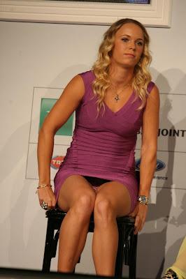 Caroline Wozniacki Danish Delight Zebra Print Panty Upskirt
