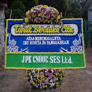 bunga papan turut berduka cita toko bunga cibubur