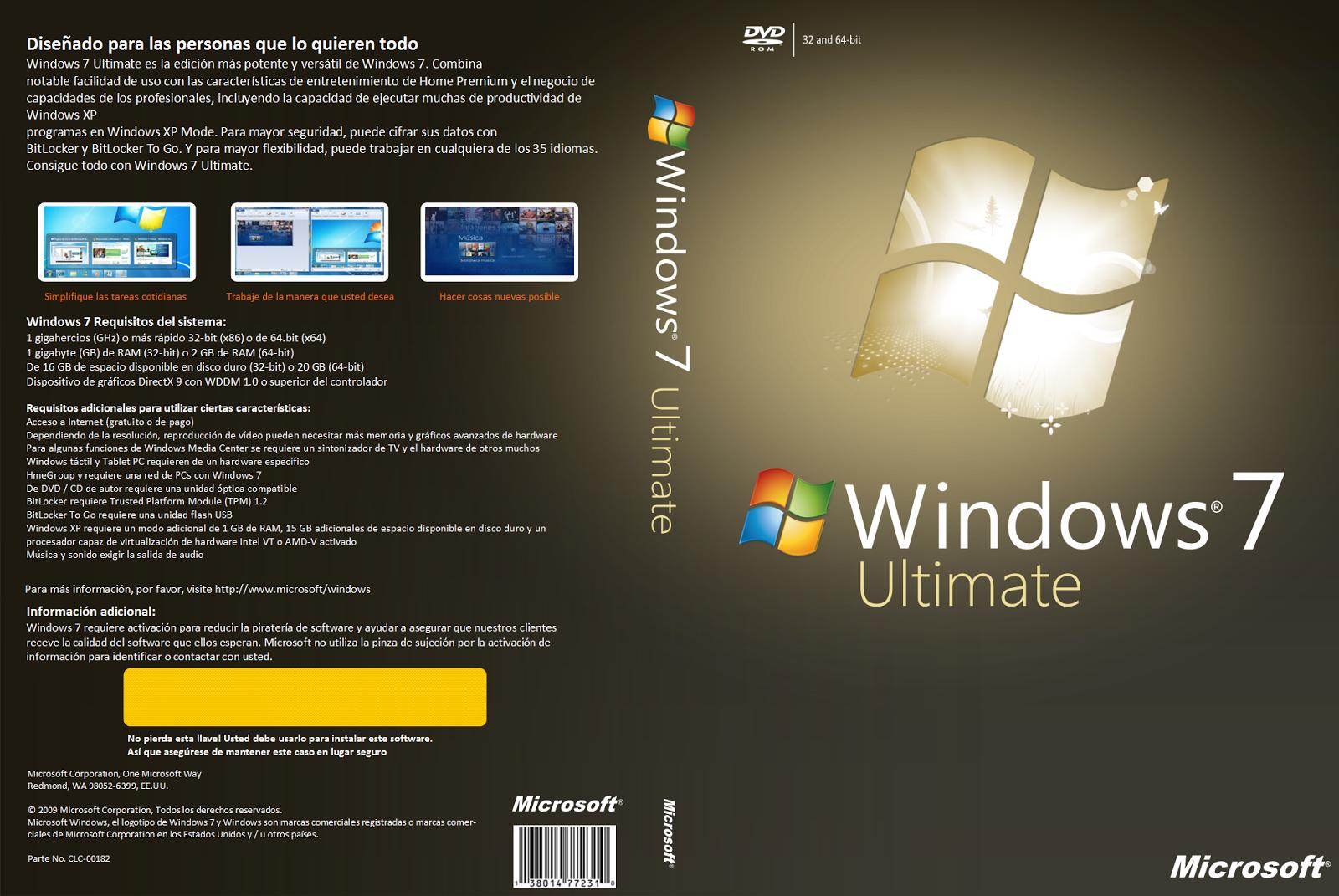 descargar windows 7 ultimate 32 bits mega por partes