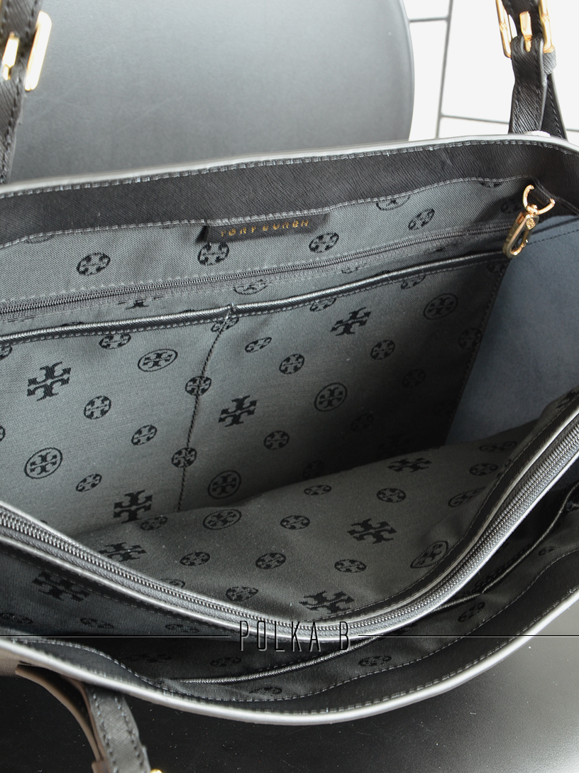Tory Burch York Buckle Tote Black Polka B Authentic Luxury You Small This Item Is Unavailable