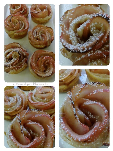 apple pastries looking like pretty roses