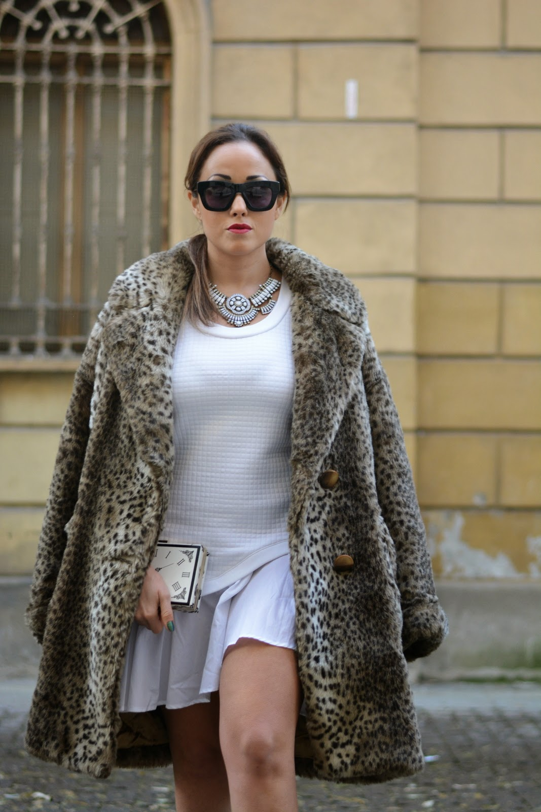 Fake Fur Coat , G2G dress , Jessica Neumann , Fashion Blogger Italia , Street style