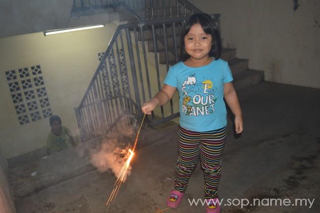 Kanak-kanak dan bunga api