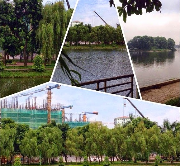 Khuôn viên cây xanh, Hồ Điều Hòa Linh Đàm