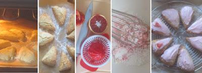 Zubereitung Blood Orange and Almond Cream Scones (Blutorangen-Marzipan-Rahm-Scones)