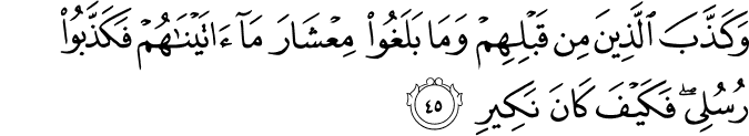 Surat Saba' Ayat 45