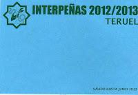 Carnet Interpeñas Teruel