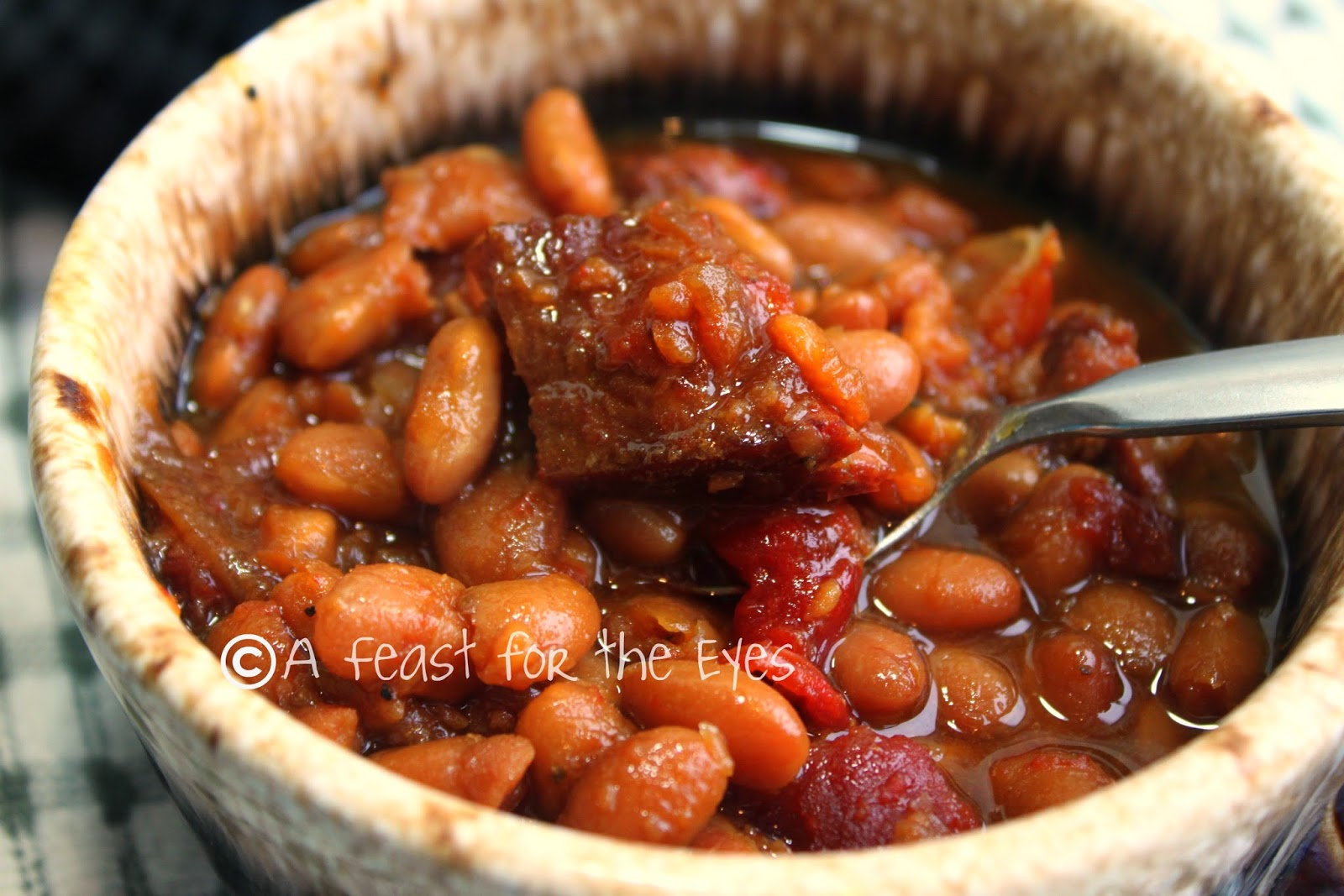 A Feast for the Eyes: Boston Baked Beans-- Bake 'em Low ...