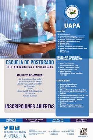 OFERTA DE MAESTRIAS EN UAPA