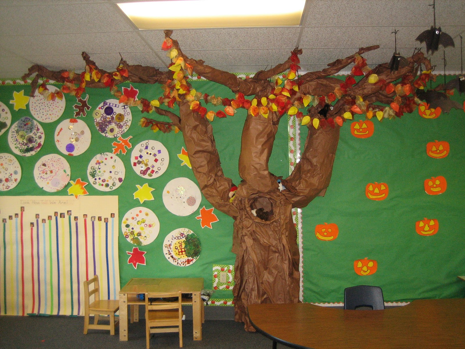 Classroom Decoration Kindergarten ~ Apples on the classroom tree teaching little people