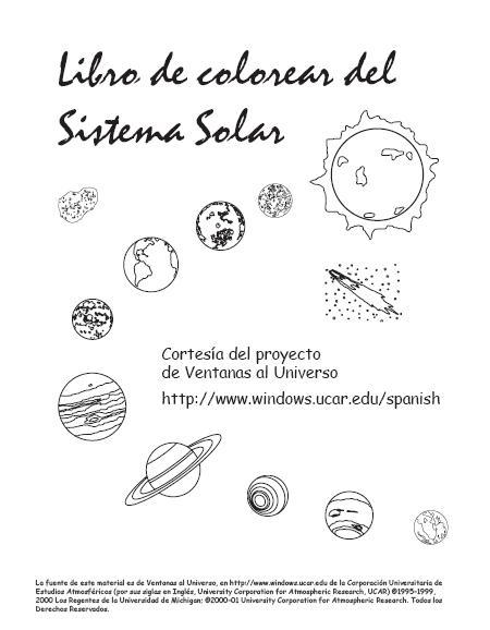 enanosaltarín colorear el sistema solar