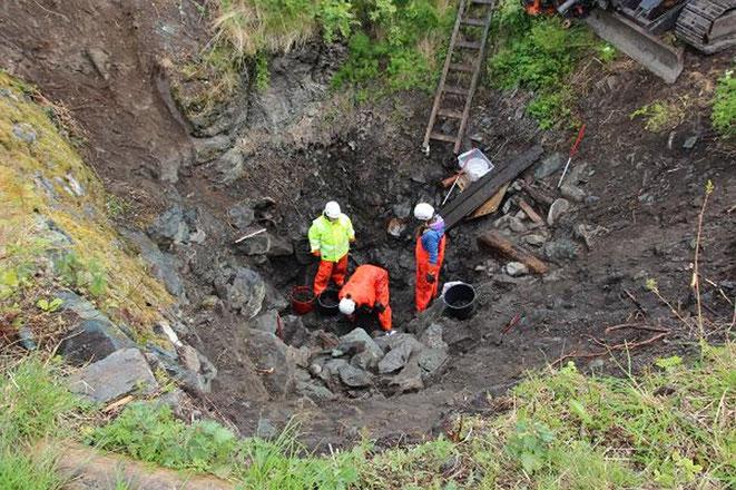 La découverte d'un corps dans un puits confirme une Saga Viking