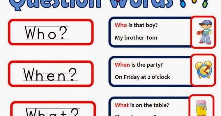 English blog of San Tomé School: QUESTION WORDS