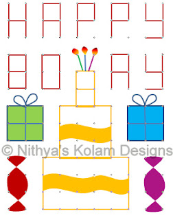 4 Birthday Kolam Dots