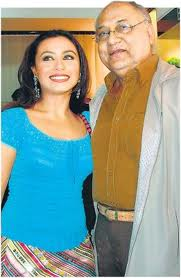Yong Rani Mukherjee with her father
