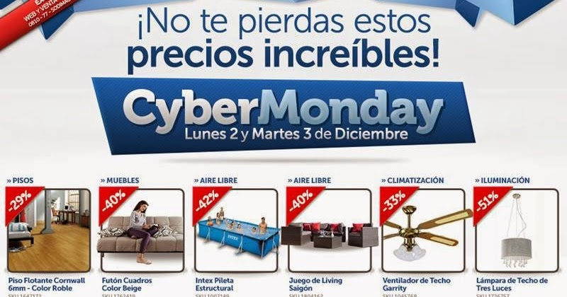 Calentadores solares termotanque electrico sodimac Cyber monday 2016 argentina muebles