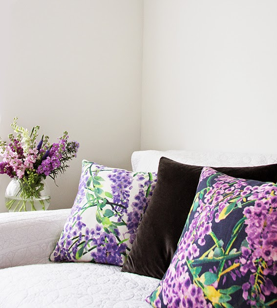Selina lake wisteria cushions from for Beds 4 u rylands