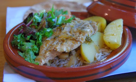 Chicken Tagine with Lemon and Apricot