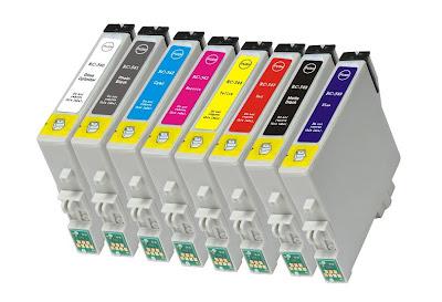Система с восьмью картриджами inkjet