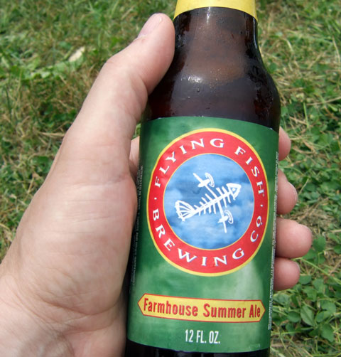 The Pizza Project Booze 50 Words or Less Flying Fish Farmhouse Summer Ale