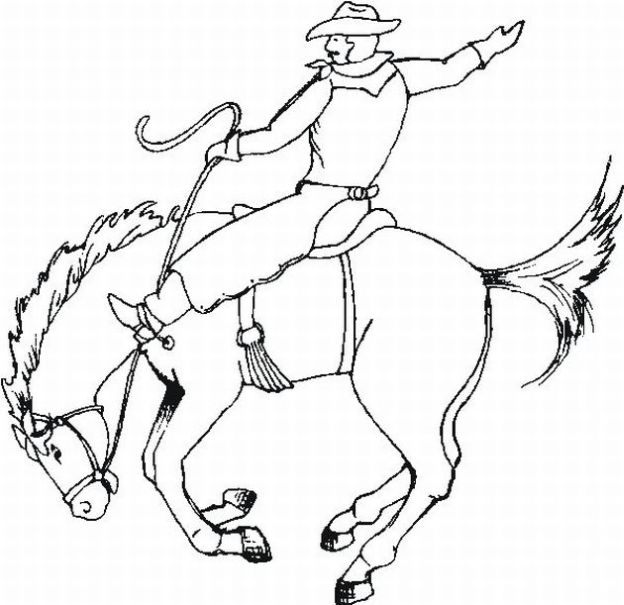 cowboys coloring pages
