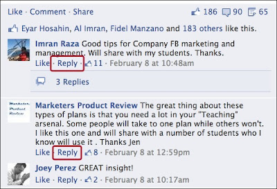 Facebook Launces Reply Option On Threaded Comments To Facebook Pages