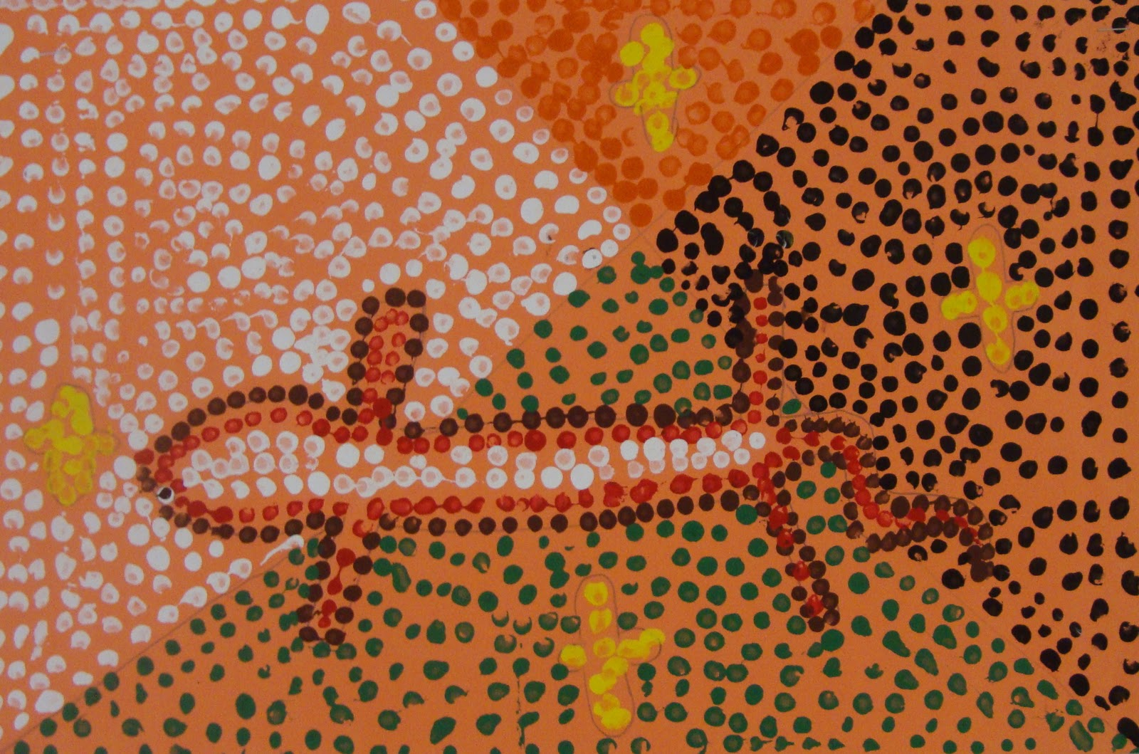 australian aboriginal dot art essay Including dot painting,  bottom, the australian aboriginal the ngagovau aboriginal and torres strait islander art teacher lesson plan.