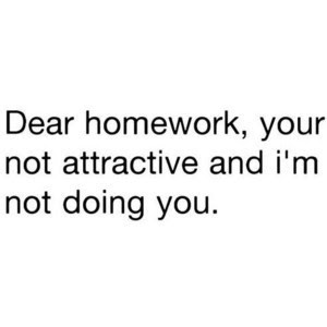 Why can't you do my homework for me
