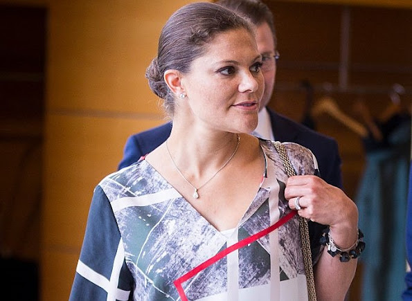 Pregnant Crown Princess Victoria of Sweden, and Prince Daniel of Sweden visits the headquarters of AstraZeneca pharmaceutical