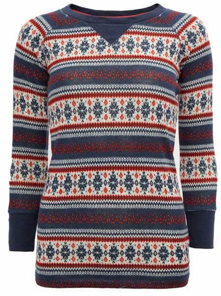 Primark online: top de pijama con grecas alpinas
