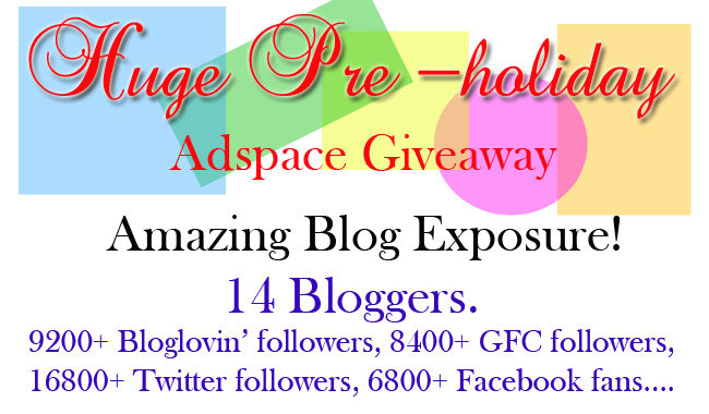 Huge Pre-holiday adspace giveaway, adspace giveaway banner