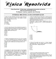 Lista de exercícios sobre energia mecânica