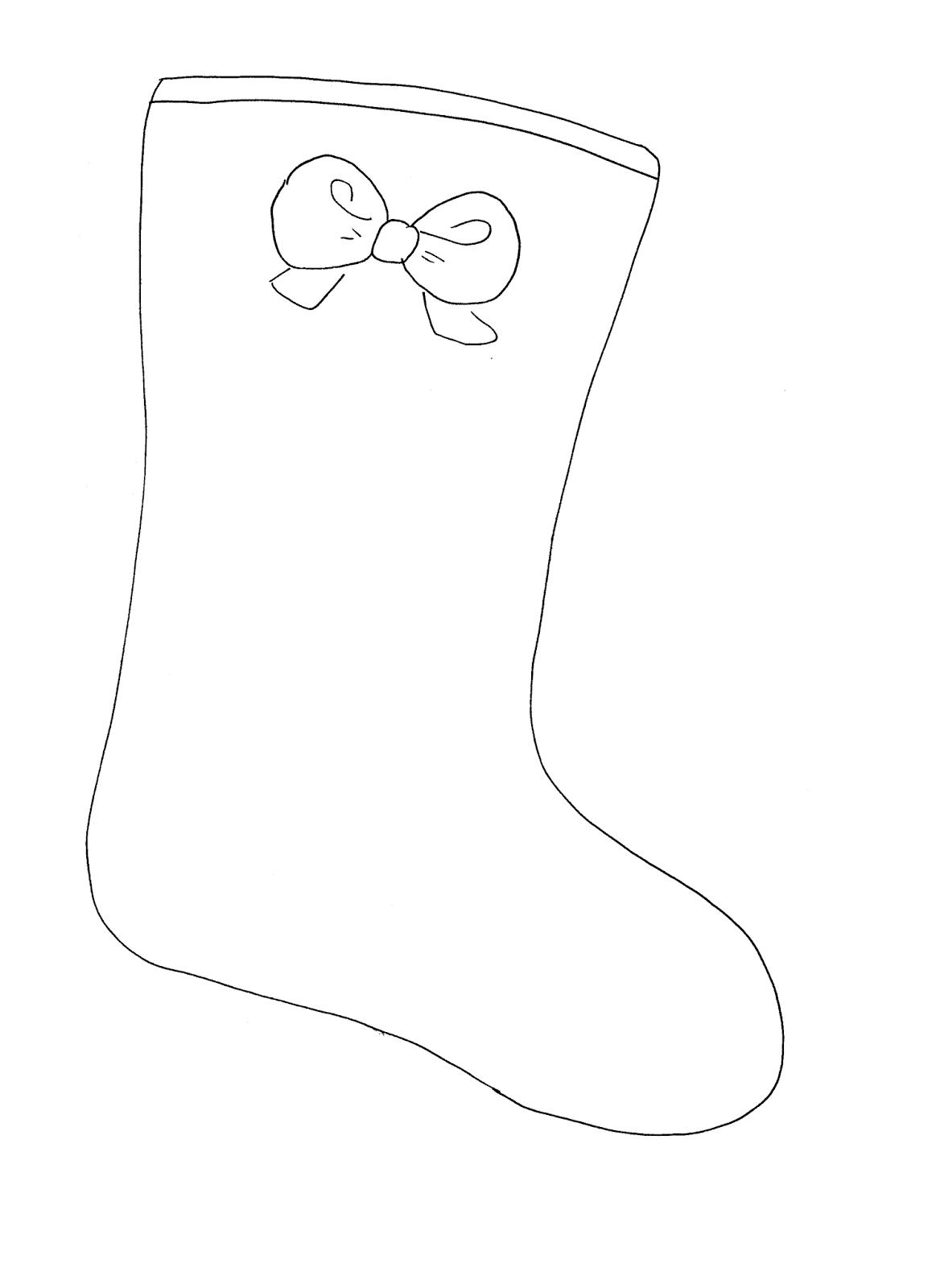 La maestra linda natale la calza della befana - Calza pagine da colorare ...