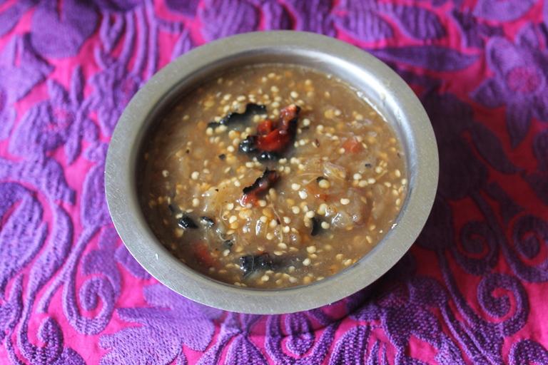 Grandma's Chutta Kathirikai Kotsu / Smoked Eggplant & Chillies Cooked in a Tangy Tamarind Sauce - Zero Oil Recipes