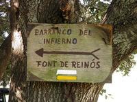 Cartel Barranco del Infierno