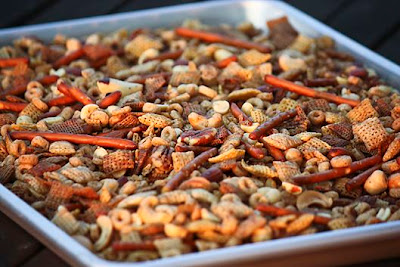Slow Cooker Chex Mix Recipe from Unsophisticook found on SlowCookerFromScratch.com