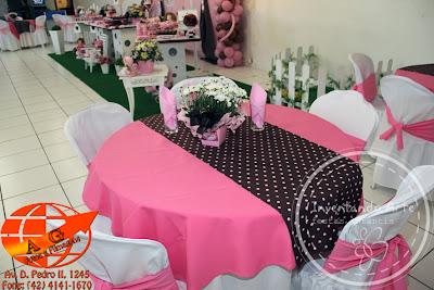 festa infantil marrom rosa bonecas