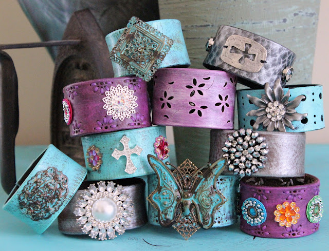 Ever Designs Upcycled Leather Cuffs