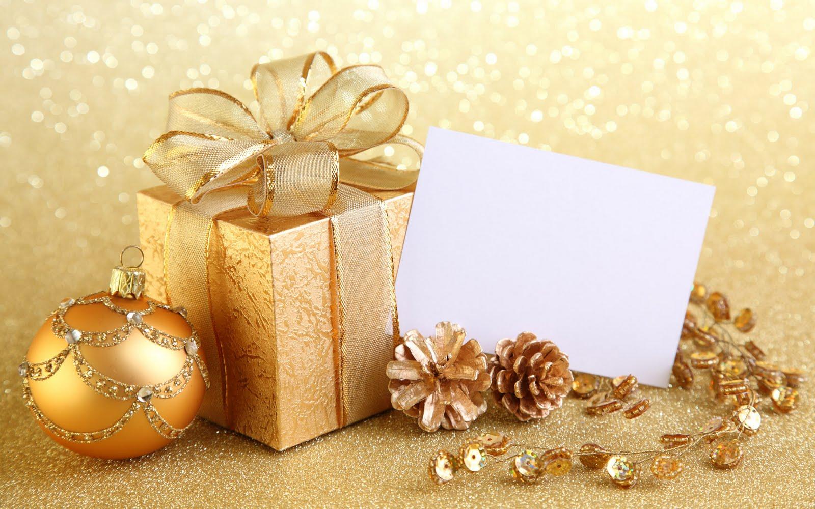Imagem De Fundo   Enfeites De Natal Dourados