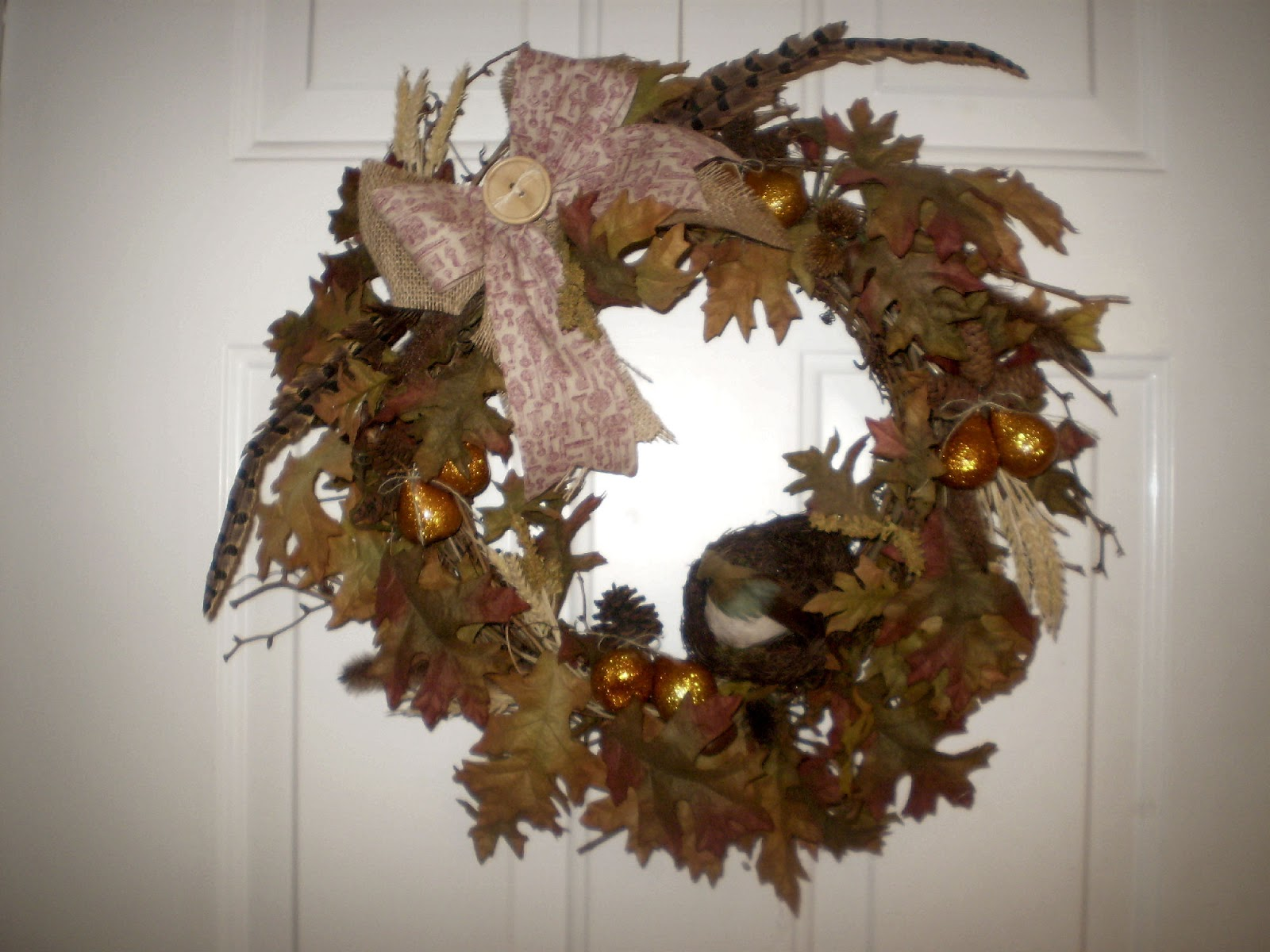 Cathy 39 S Craft Corner Fall Wreath For Sale