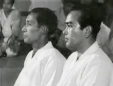 Doshu Kisshumaru Ueshiba y Tohei sensei