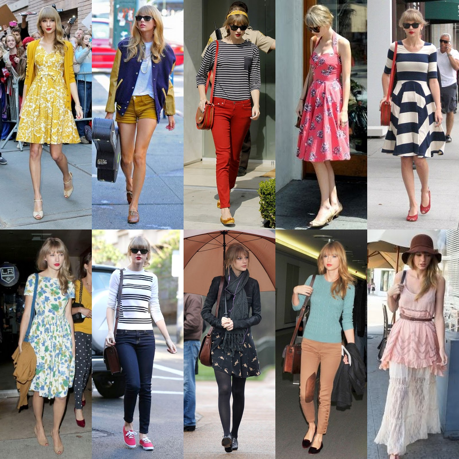 The best street style icons of 2012 fashion naturally Fashion style of taylor swift