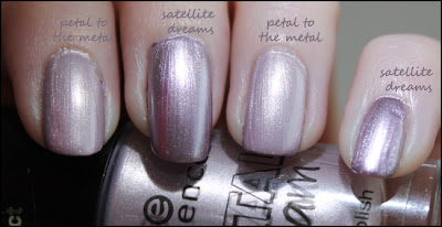 "Vergleich p2 ""satellite dreams"" vs essence ""petal to the metal"""