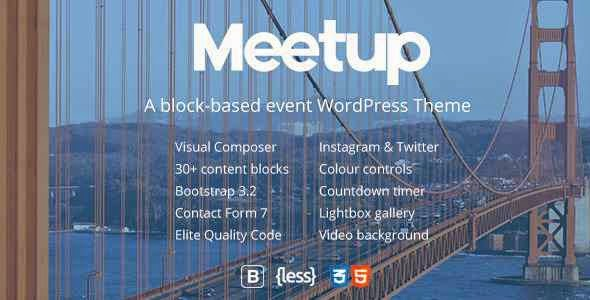 Meetup - Conference & Event WordPress Theme