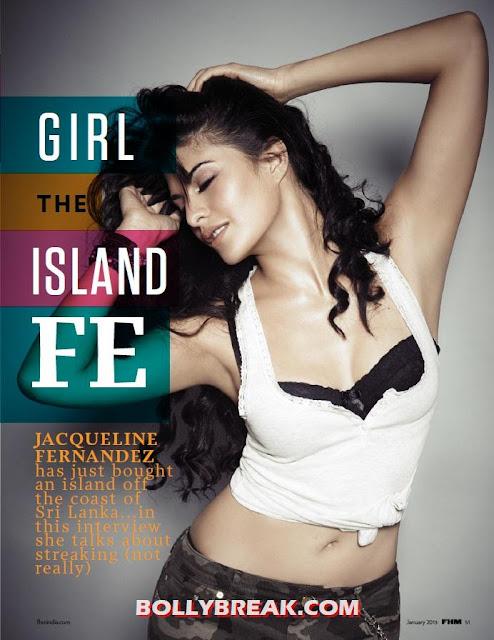 Jacqueline Fernandez in bikini FHM January 2013 - (4) -  Jacqueline Fernandez's Bikini Pics - FHM January 2013
