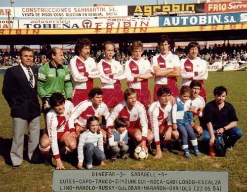 El equipo del Sabadell.