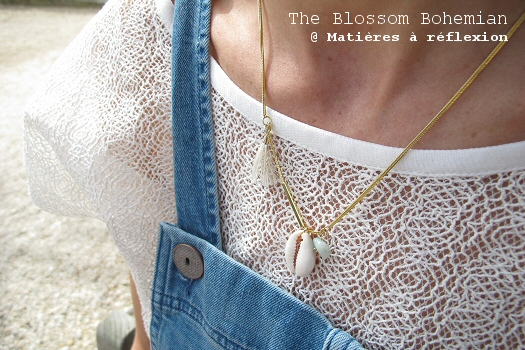 Collier coquillage The Blossom Bohemian bijoux