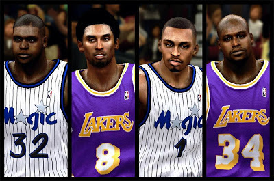 NBA 2K13 Classic Players Cyberface Mods